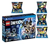 Lego Dimensions Starter Pack + Scooby Doo Team Pack + The Simpsons Homer Level Pack + Bart Simpson + Krusty Fun Packs for Playstation 4 or PS4 Pro Console