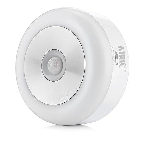 Luz de Sensor, AIRIC Sensor de movimiento Luces LED interior Luz de noche Luces bajo