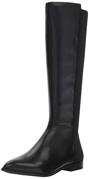 Nine West Women's OWENFORD Leather Knee High Boot, Black, 6 M US best women's knee high boots