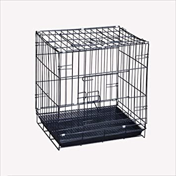JiuErDP Pequeños Cachorros Jaula para Perros Jaula para Gatos audaz cifrado Alambre portátil Perro Plegable Jaula para Mascotas: Amazon.es: Hogar