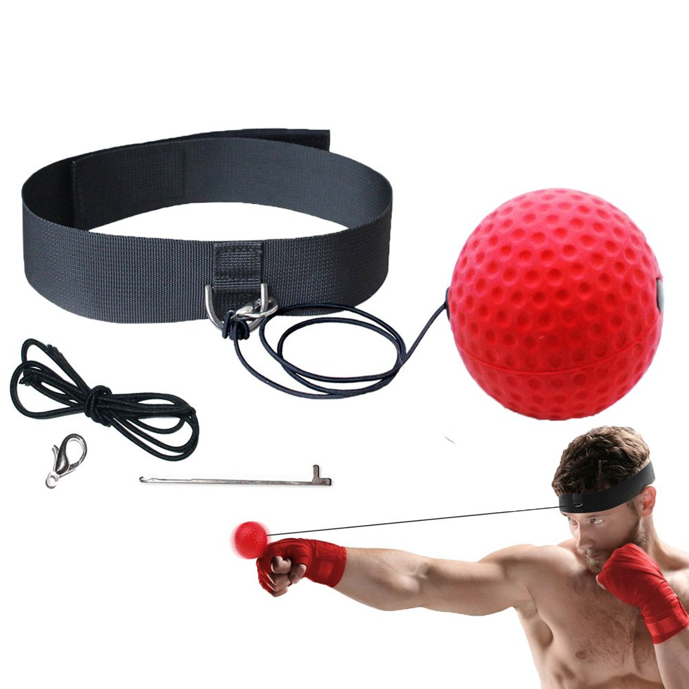Pevor Boxing Reflex Training Ball, Punching Ball Fight Ball Speed Exercise Ball for Boxing, MMA, Martial Arts, Anti-Stress/Anti-Anxiety