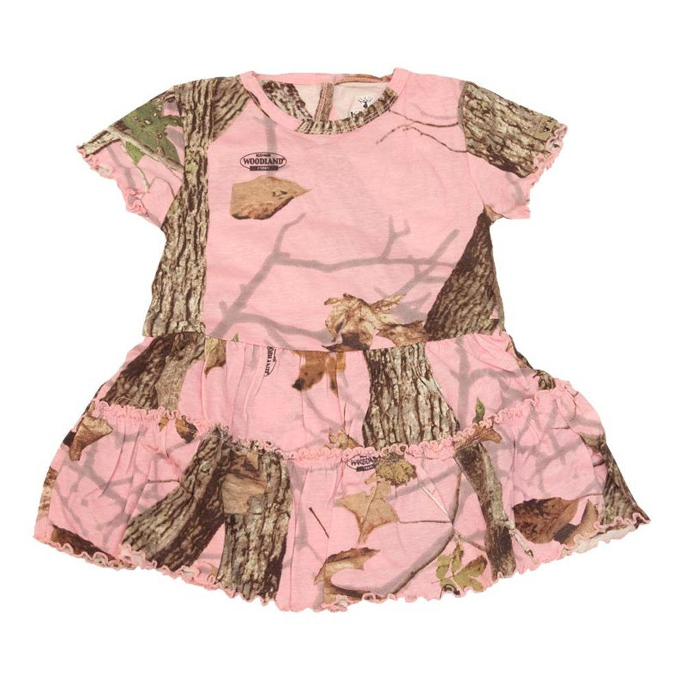Kings Camo - Infant/Toddler Camo Dress - Woodland Pink