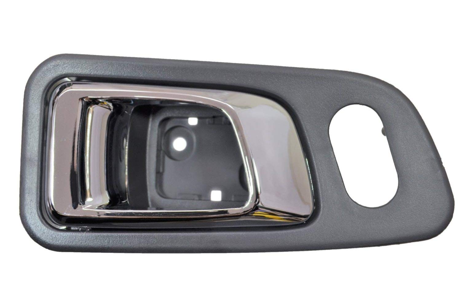 Silver Gray Housing with Chrome Lever Passenger Side Front Inner Interior Inside Door Handle PT Auto Warehouse FO-2507MR-FR