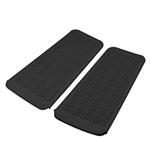 AOKLANT Heat Resistant Silicone Mat for Curling Iron Hair Styling Tools,Flat Iron (2 Pack, BLACK)