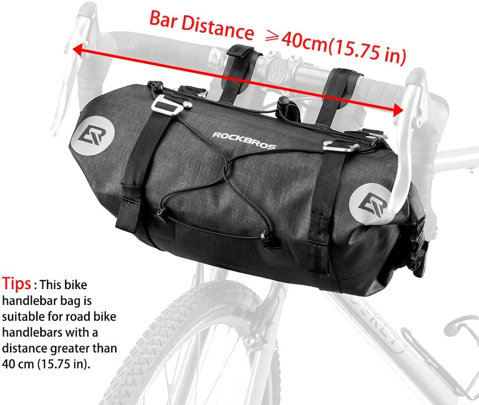 Durable Hiking Cycling Bike Bicycle Handlebar Bar Bag Front Basket Camping US