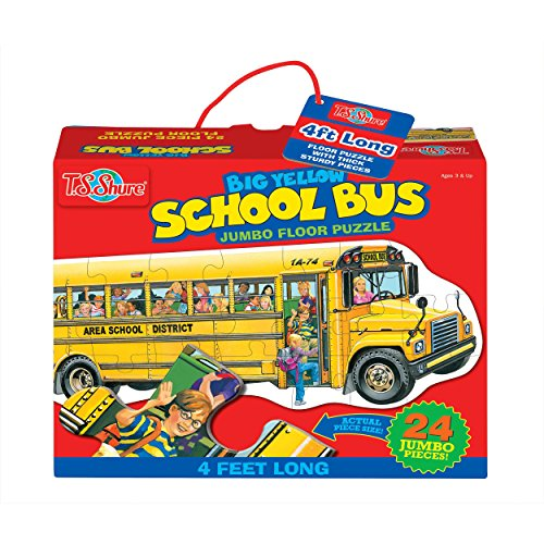 Bus School Giant (T.S. Shure Big Yellow School Bus Jumbo Floor Puzzle)
