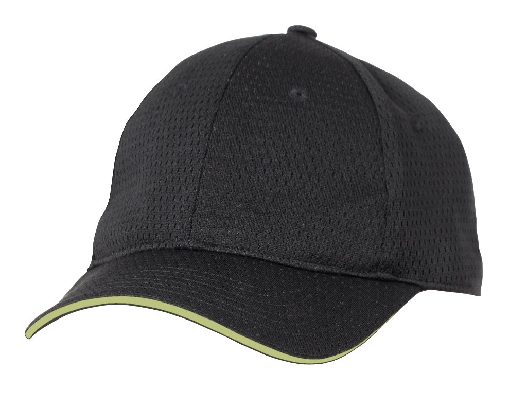 Colour by Chef Works BCCT-LIM-0 Cool Vent Baseball Cap Black Lime Trim One Size