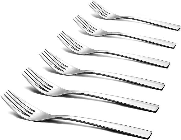 Forchette nel Acciaio Inox 12 Pezzi Set Lucido Moderno Posate Posate Forchette per Cucina 8 Pollici Cikuso Dinner Forchette