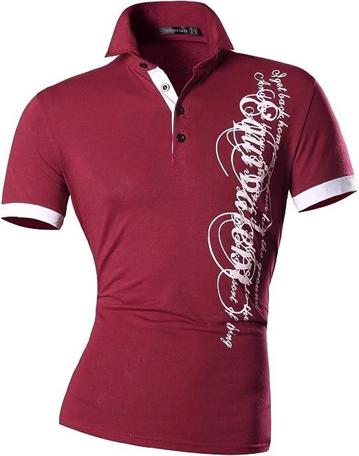 Camisa De Polo para Hombre Solapa Casual Manga Corta Ropa Polo ...