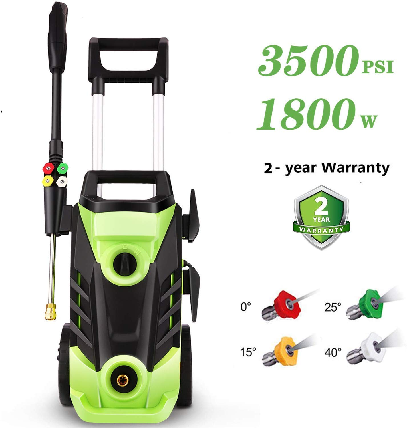 Homdox 3500 PSI Pressure Power Washer Cleaner, 2.6GPM High Pressure Washer, Professional Washer Cleaner Machine with 4 Interchangeable Nozzles,with Telescopic by Homdox