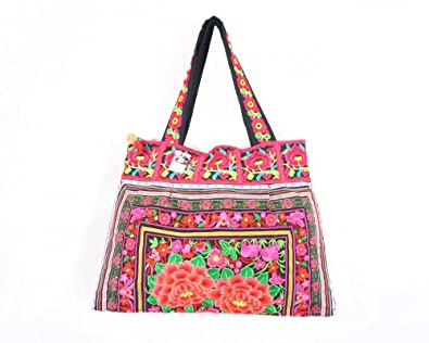 Amazon.com: Lanna étnico hecho a mano colorido floral ...