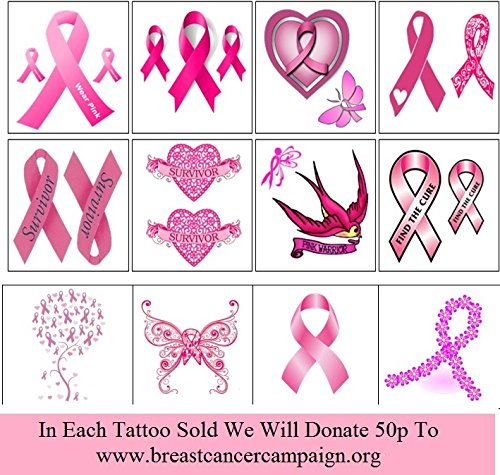 Breast Cancer Collection (Breast Cancer Temporary Tattoos)
