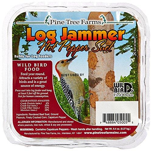 (Pine Tree 5005 Log Jammer Hot Pepper Suet, 9.4 oz.)