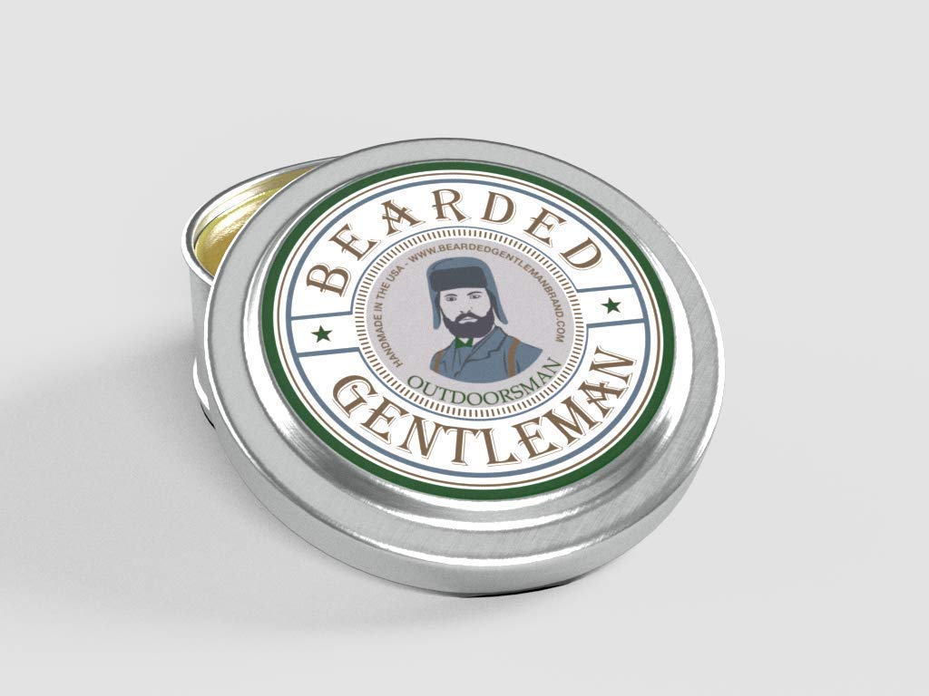 Bearded Gentleman - Men's Solid Cologne: Outdoorsman - Cedar & Fir & Pine | Small Batch | 1 oz | Handmade | Double the amount of any competitor!