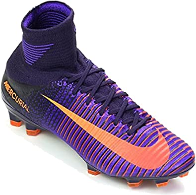 87dbbeb4a9d Nike Kids Mercurial Superfly V FG Soccer Shoes (6 Big KId M) Purple Dynasty