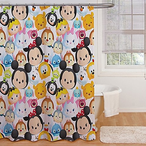 Franco Shower Curtain (Jay Franco and Sons Disney Tsum Tsum Stacks Shower Curtain)