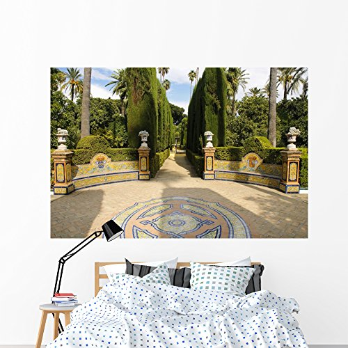 Alcazar Furniture - Wallmonkeys Garden Royal Alcazar Seville Wall Mural Peel and Stick Graphic (72 in W x 48 in H) WM77216