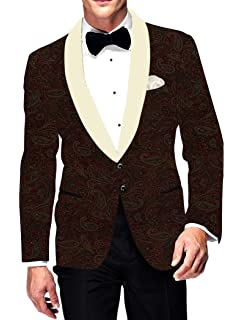 INMONARCH Mens Printed Pink Slim fit Two Button Blazer Jacket Sport Coat White Shawl Lapel SB19460