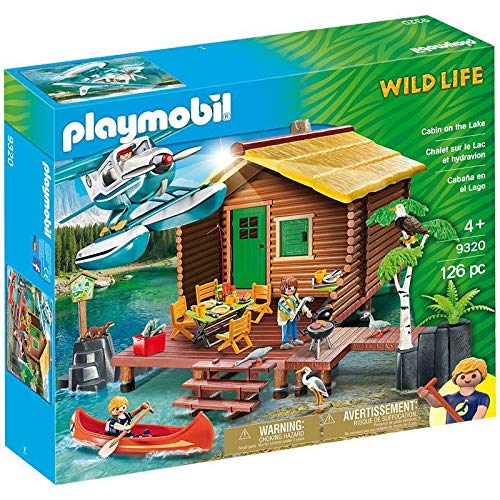 PLAYMOBIL® Cabin on The Lake #9320 126 Piece Toy Playset