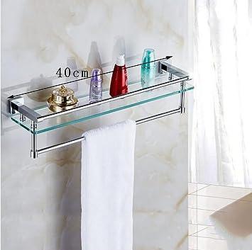 Badezimmer Glas Einschicht Regal Wand Hangen Waschbecken Kosmetik