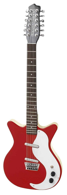 Danelectro DC59 - Guitarra eléctrica (12 cuerdas), color rojo: Amazon.es: Instrumentos musicales