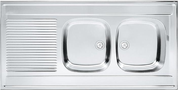 Franke 103.0360.880/seda fregadero de cocina con doble de acero inoxidable Bowl de Franke Daria DSN gris