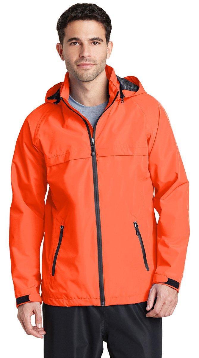 Port Authorityメンズトレント防水ジャケット B015A057XY L|オレンジ(Orange Crush) オレンジ(Orange Crush) L