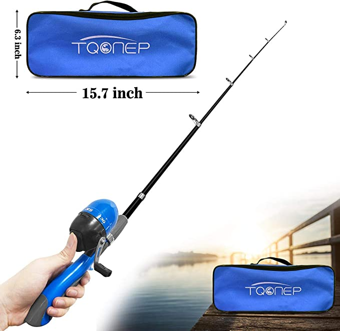 Details about  /Fishing Pole Spinning Reels Fishing Carrier Bag Combo Kits Fishing Tool USA E1Q3