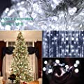 Outdoor String Lights 72ft 200 LEDs Decorative Indoor String Lights with 8 Flash Changing Modes, 29V Memory Function Waterproof Plug-in Fairy Twinkle lights for Christmas/Garden/Party (Warm White)