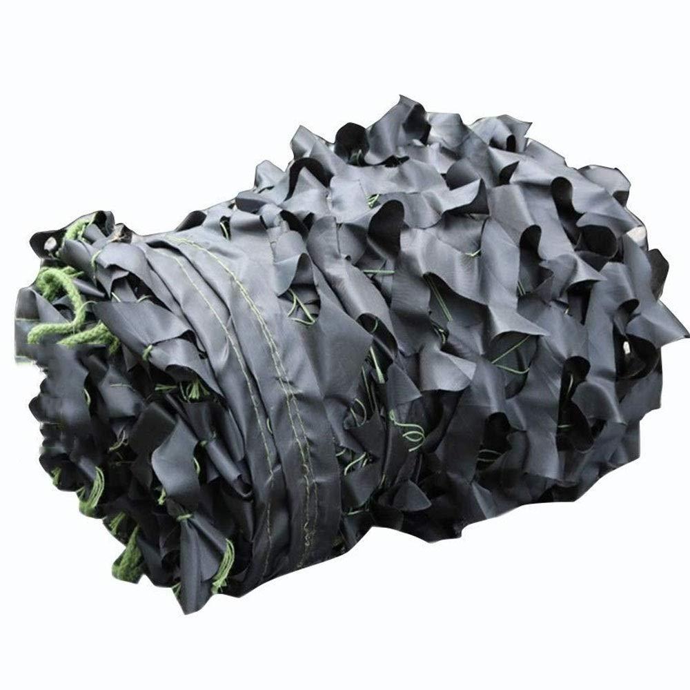 35m YSA Filets de Prougeection Solaire Militaires Militaires Noirs de Camouflage de Filet de Prougeection Solaire de Tente de Tissu d'Oxford pour des soirées à thème de Camping-voiture-masquant de Camping (