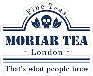 Jess-Sha Store 3 PCs Stickers MoriarTea: That's What People Brew, Sherlock Holmes Sticker for Laptop, Phone, Cars, Vinyl Funny Stickers Decal for Laptops, Guitar, Fridge