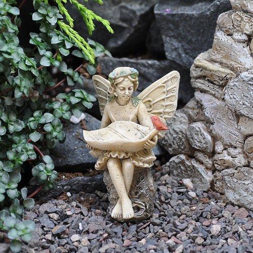 Miniature Fairy Garden Birdfeeder, Fairy Evelyn Mae, Baby & Kids Zone