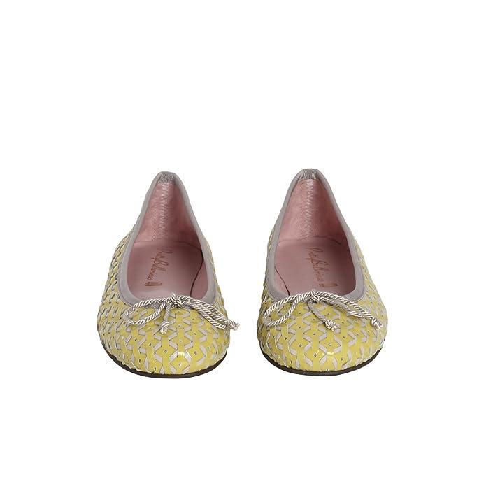 Pretty Ballerinas - Mocasines de cuero para mujer Multicolor amarillo 40, color Multicolor, talla 40: Amazon.es: Zapatos y complementos