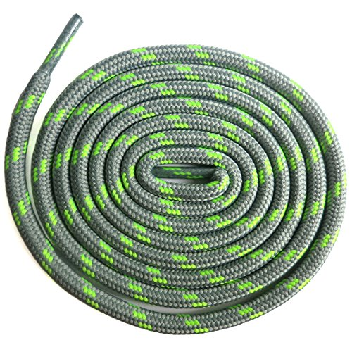 Green Round Shoes - DELELE 2 Pair Non-slip Outdoor Mountaineering Hiking Walking Shoelaces Round Light Gray Green String Rope Boot Laces Strong Durable Bootlaces-39.37