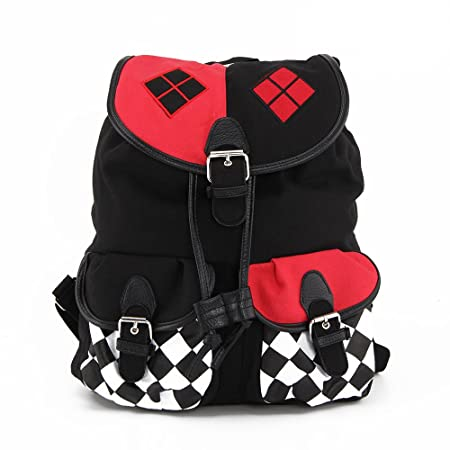 fa6376f4374b PetHot Harley Quinn Suicide Squad Cosplay Comics Knapsack School Bag  Backpack Key Chain  Amazon.co.uk  Kitchen   Home