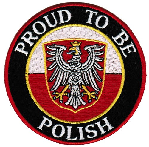 Proud To Be Polish Embroidered Patch Poland Flag Iron-On Biker Emblem