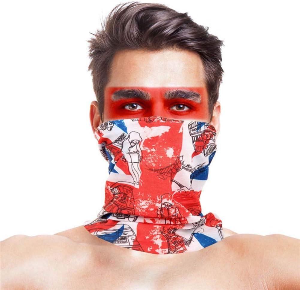 WWDDVH Reitschal Magic Mask Outdoor Pancing Gesichtsschleier Kopftuch Sonnenschutz Anti-UV-Kappe Atmungsaktives L/ätzchen Radfahren Bandana Schal