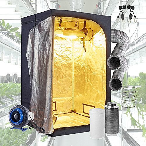 sunGROOM Grow Tent Room Complete Kit Hydroponic Growing System