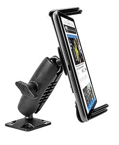 Arkon Heavy Duty Drill Base Mount for Note 8 5 Galaxy Tab 7.0 8.0 iPhone X 8 7 6S Plus iPad mini Retail Black