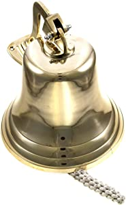 "11"" Brass Ship Bell Polished Nautical - Jumbo Bells"