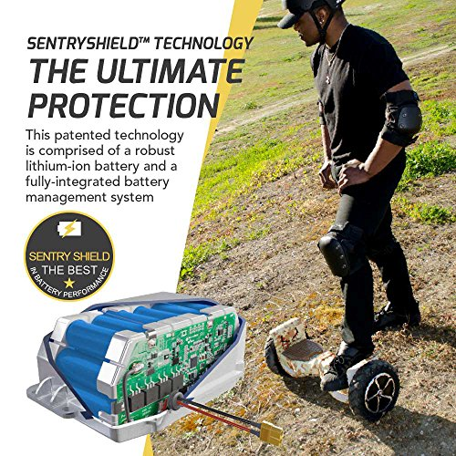 SWAGTRON T6 Off-Road Hoverboard - First in the World to Handle Over 380 LBS, Up to 12 MPH, UL2272 Certified, 10