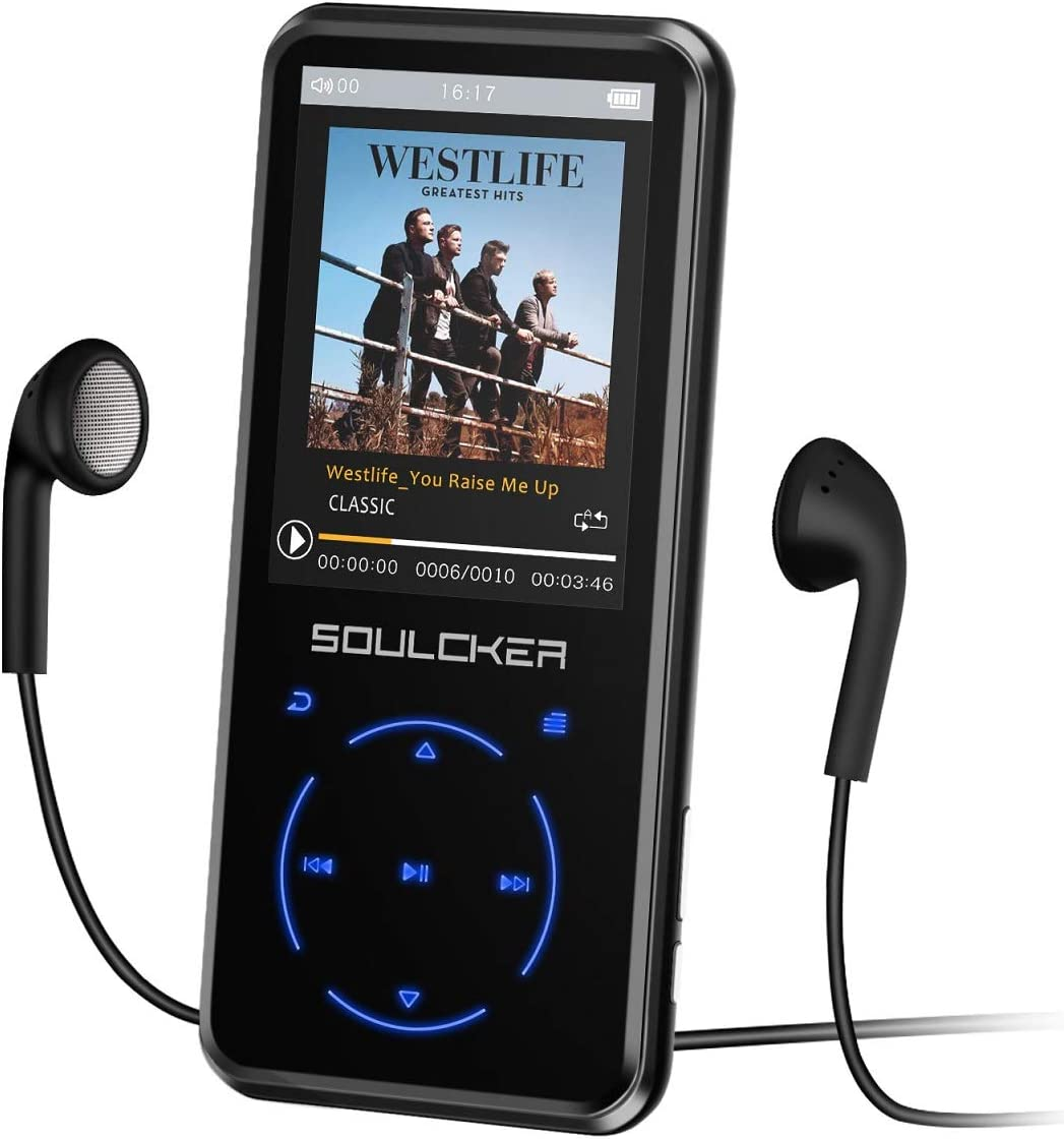 MP3 Player, 16GB MP3 Player with Bluetooth 4.0, Portable HiFi Lossless Sound MP3 Music Player with FM Radio Voice Recorder