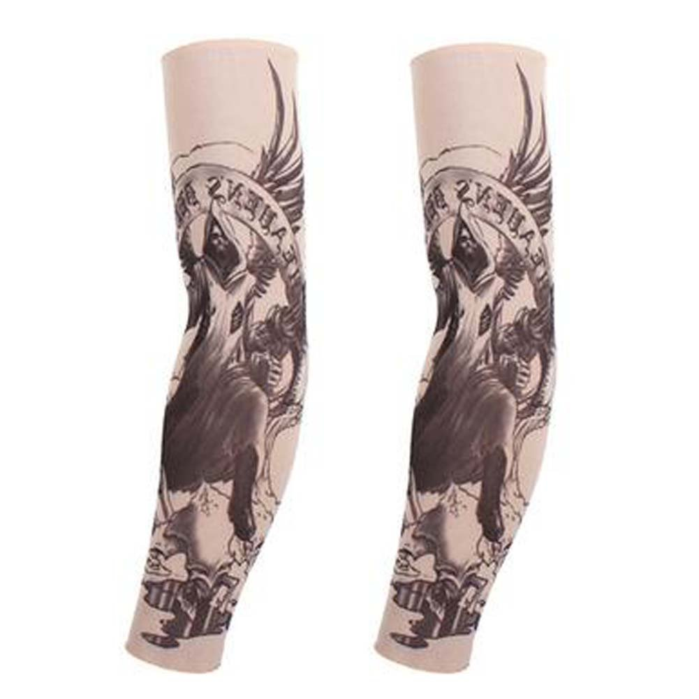 BLANCHO BEDDING 1-Pair Skull Wing Tatuaje Temporal Mangas del Sol ...