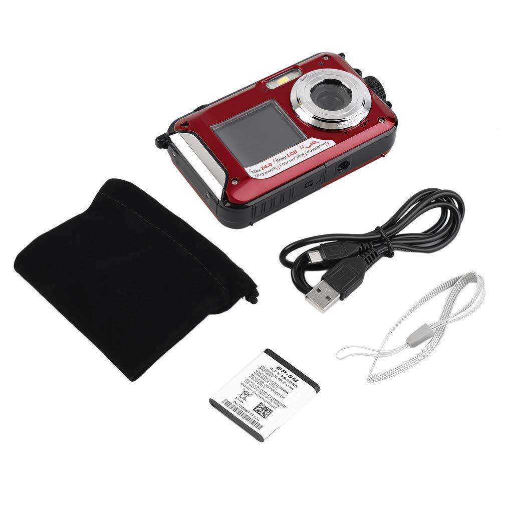 marca FDBF Digital Camera Waterproof 5MP Max 1080P Double Screen16x Zoom Zoom Zoom Camcorder  shopping online di moda