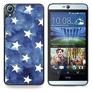"S-type Stripes USA azul de la bandera americana"" - Arte & diseño plástico duro Fundas Cover Cubre Hard Case Cover For HTC Desire 826"