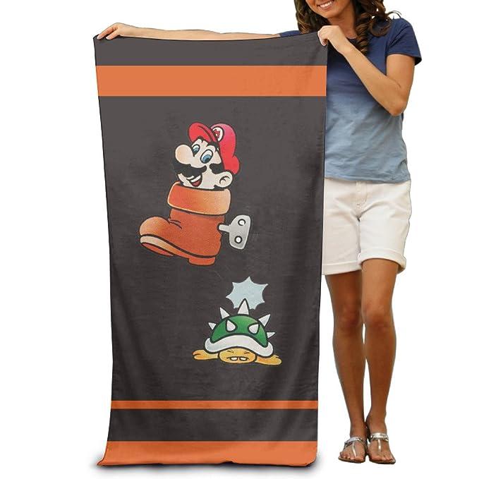 Cartoon Super Bros baño toalla de playa 30 x 50inche, adulto: Amazon.es: Hogar