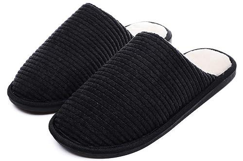 Yooeen Zapatillas de Casa Mujer Zapatillas de Estar por Casa para Hombre Pantuflas Térmicos de Invierno Cómodas Vellón de Coral Zapatos de Interior: ...