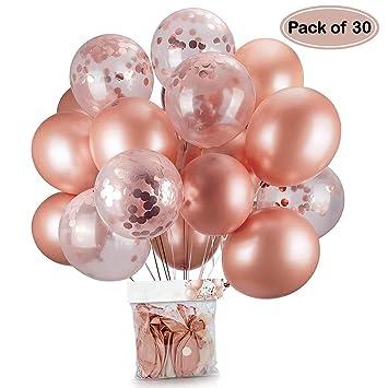 Oro rosa coriandoli palloncini party balloon 30,5 cm per