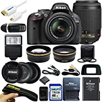 Nikon D5200 24.1 MP Camera W/ 18-55mm f/3.5-5.6 AF-S DX VR Lens + 16GB Pixi-Basic Accessory Bundle Review Review Image