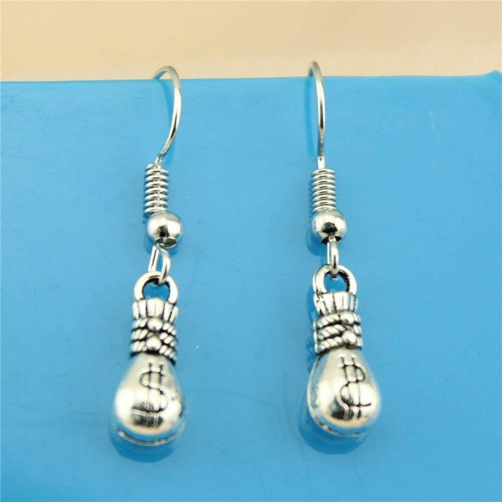 Taliyah 1 Pair Moneybag Drop Earrings Jewelry Earrings Findings with Earring Cap